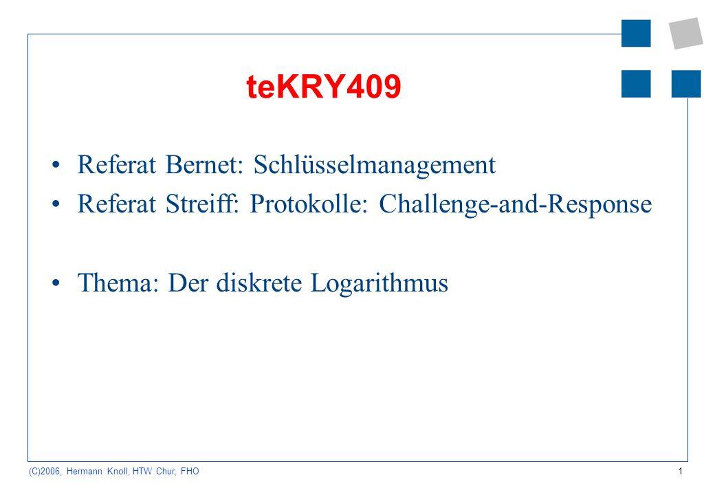 teKRY409 Referat Bernet: Schlüsselmanagement