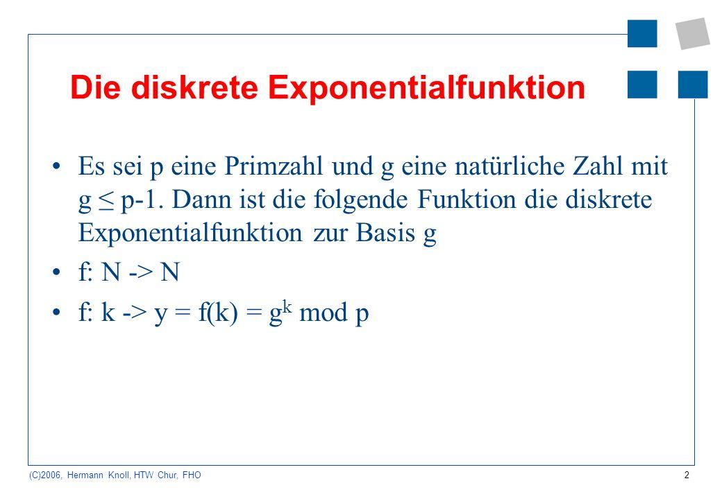 Die diskrete Exponentialfunktion