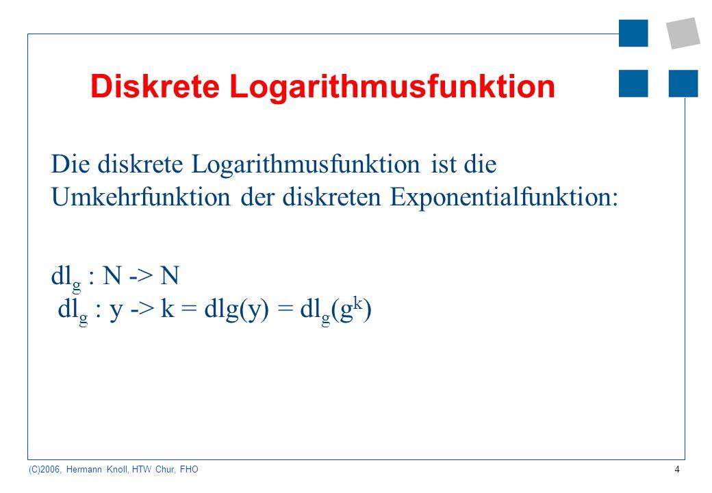 Diskrete Logarithmusfunktion