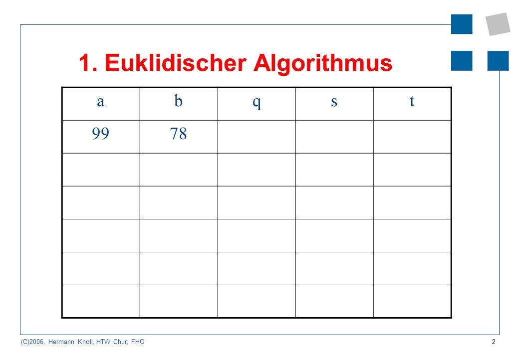 1. Euklidischer Algorithmus