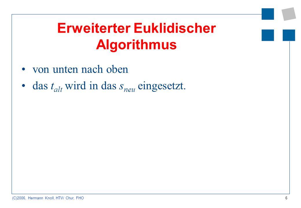 Erweiterter Euklidischer Algorithmus