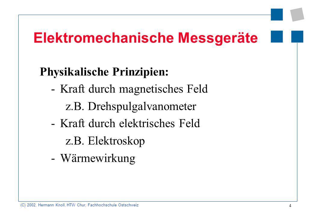 Elektromechanische Messgeräte