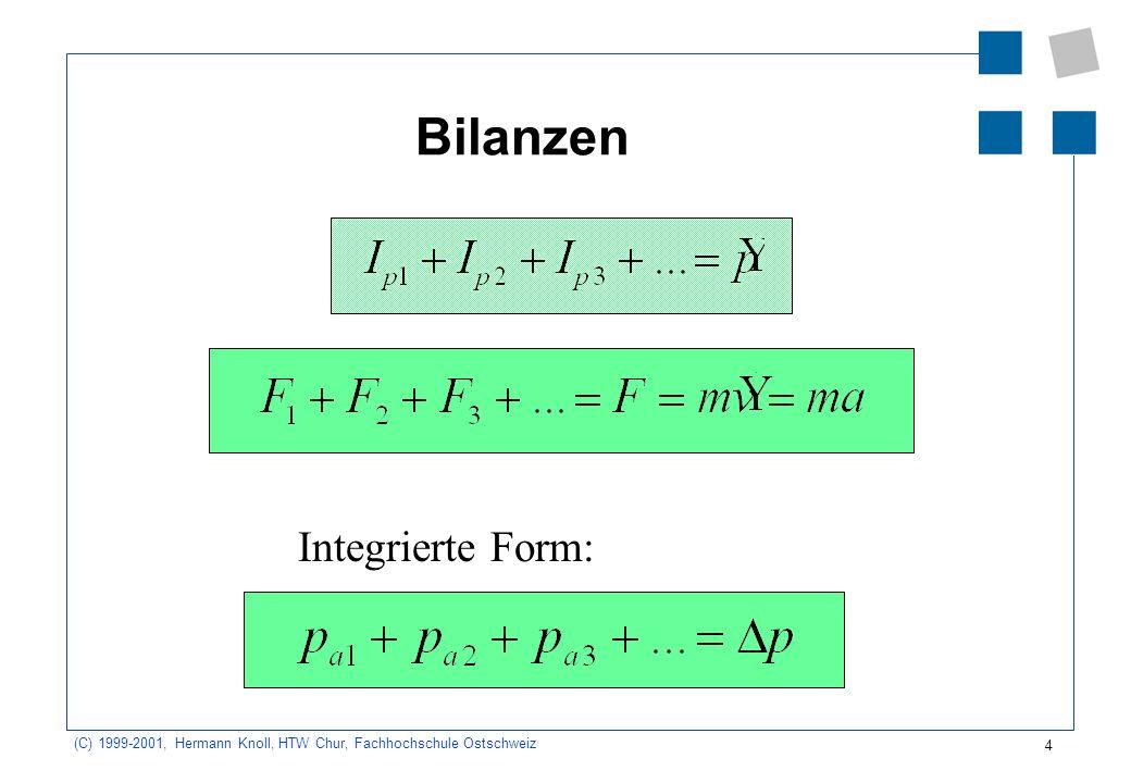 Bilanzen Integrierte Form: