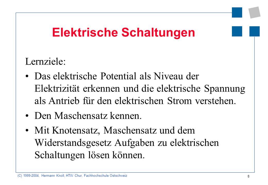 Fein Komponenten In Elektrischen Schaltungen Bilder - Der Schaltplan ...