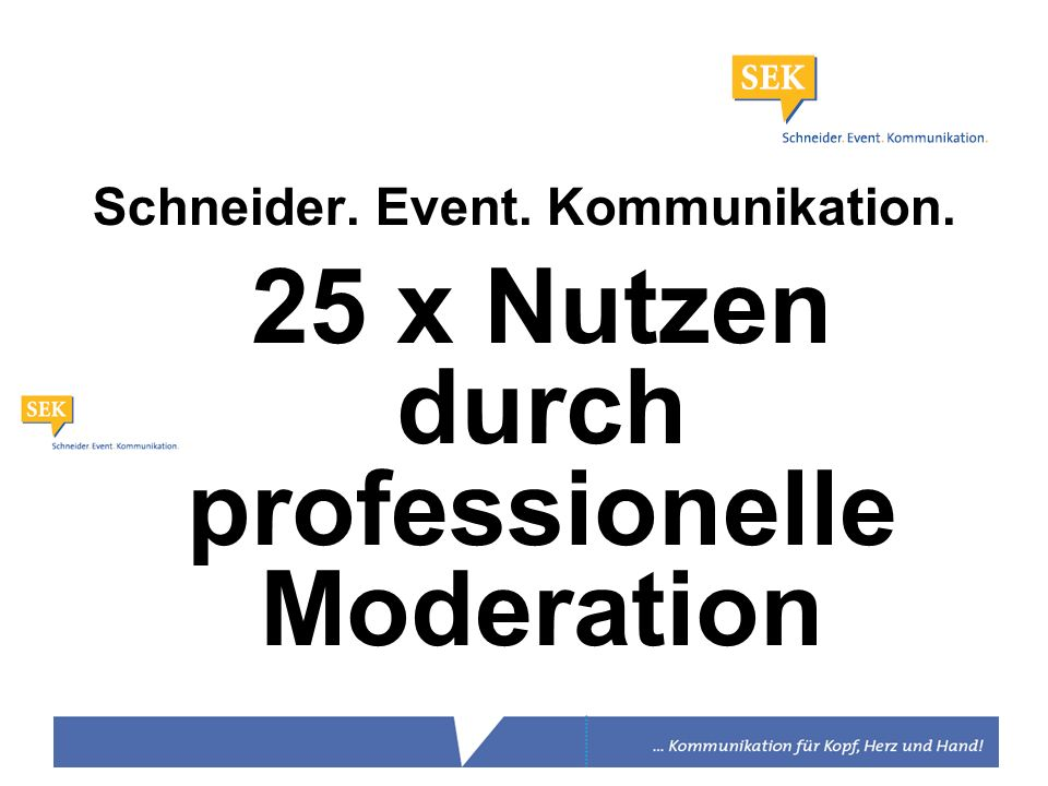 Schneider. Event. Kommunikation.