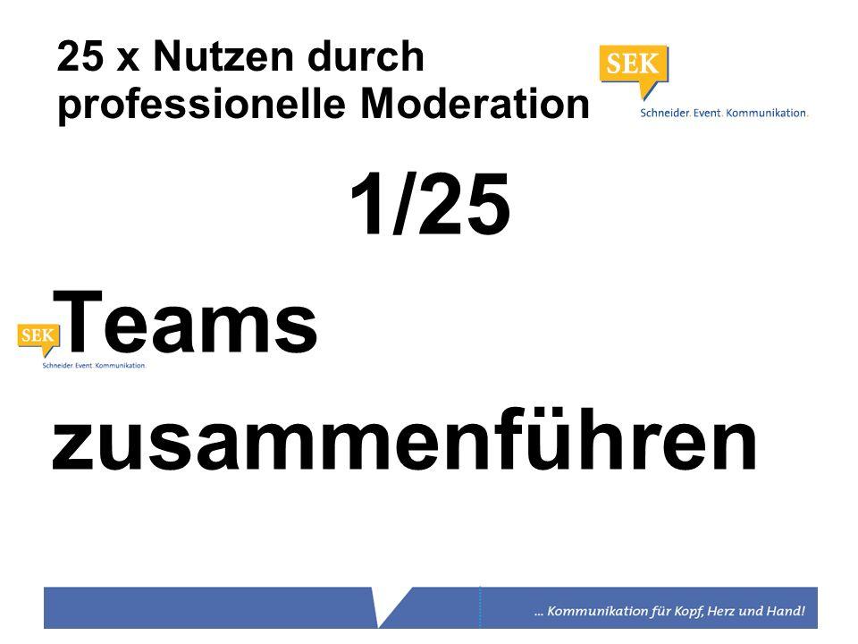 25 x Nutzen durch professionelle Moderation