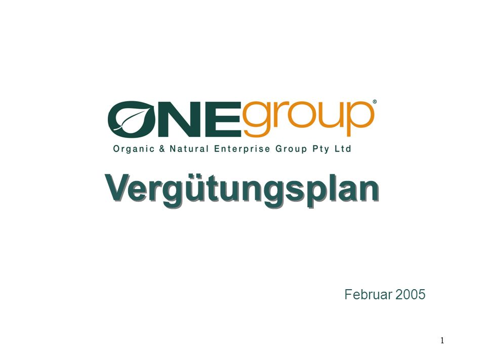 Vergütungsplan Februar 2005
