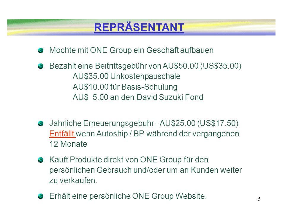 REPRÄSENTANT Möchte mit ONE Group ein Geschäft aufbauen