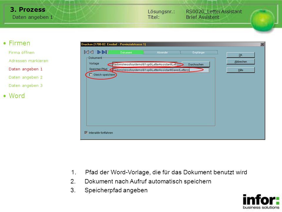 Pfad der Word-Vorlage, die für das Dokument benutzt wird