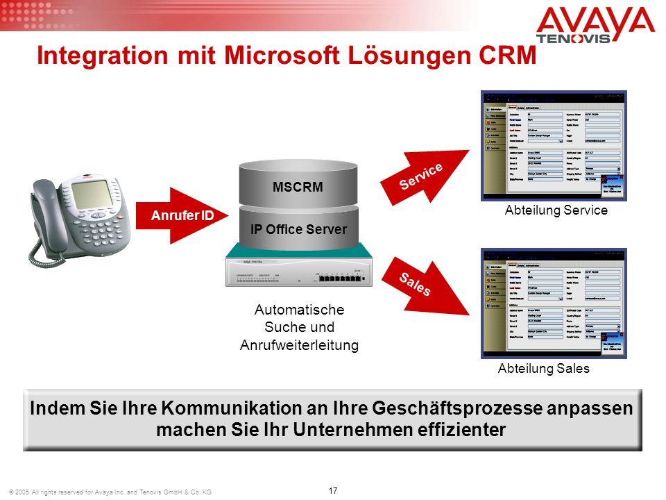 Integration mit Microsoft Lösungen CRM