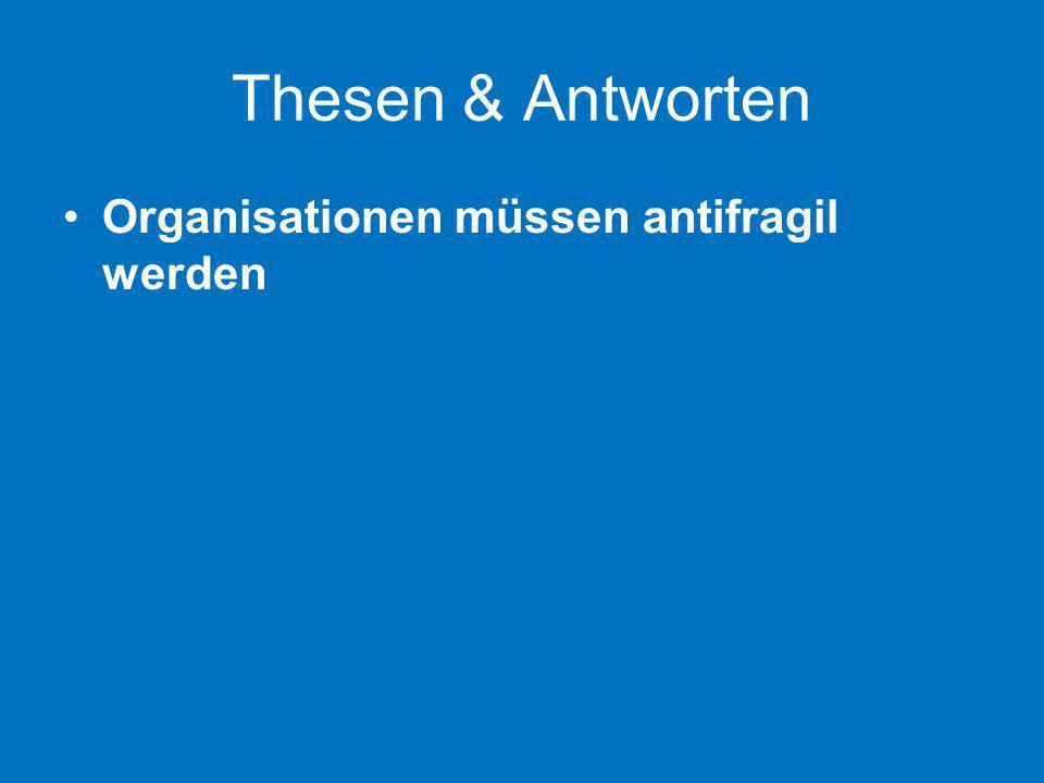 Thesen & Antworten Organisationen müssen antifragil werden