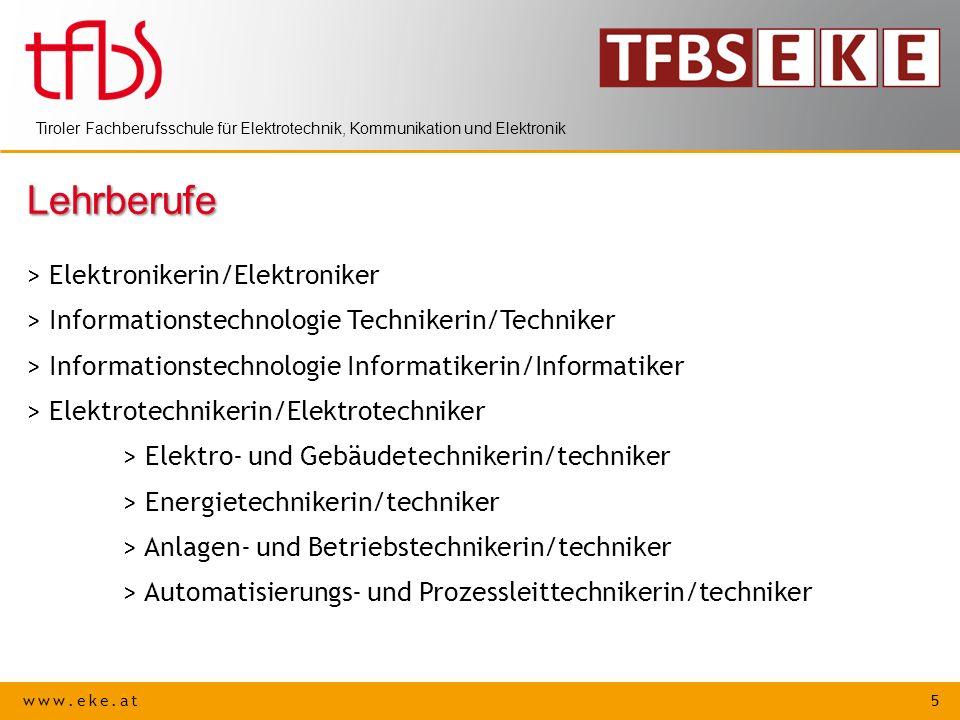 Lehrberufe > Elektronikerin/Elektroniker