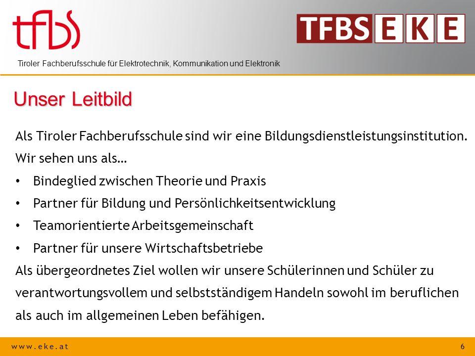 Unser Leitbild Als Tiroler Fachberufsschule sind wir eine Bildungsdienstleistungsinstitution. Wir sehen uns als…