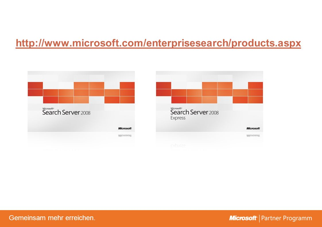 http://www.microsoft.com/enterprisesearch/products.aspx