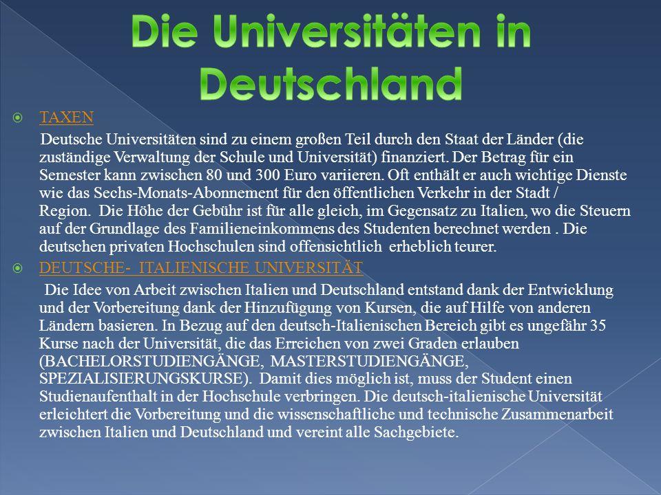 Die Universitäten in Deutschland