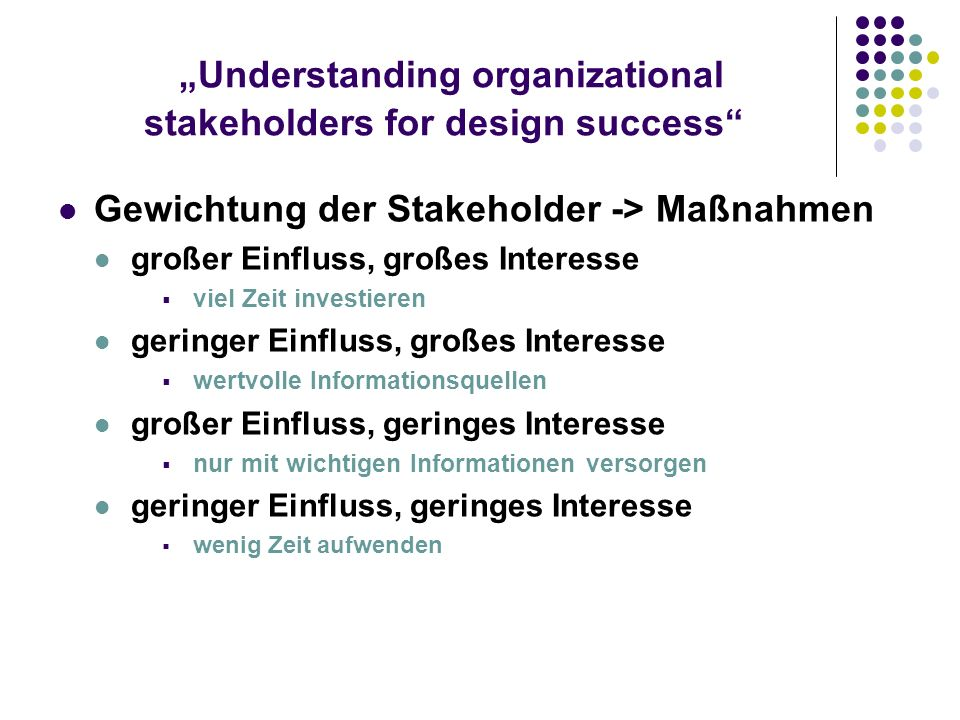 """Understanding organizational stakeholders for design success"