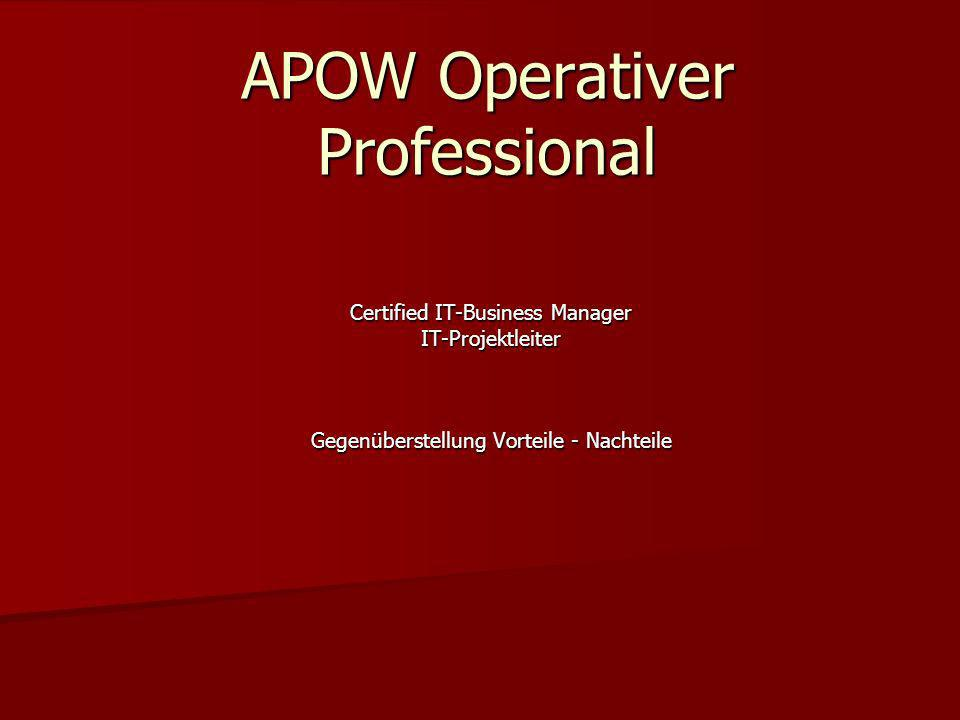 APOW Operativer Professional