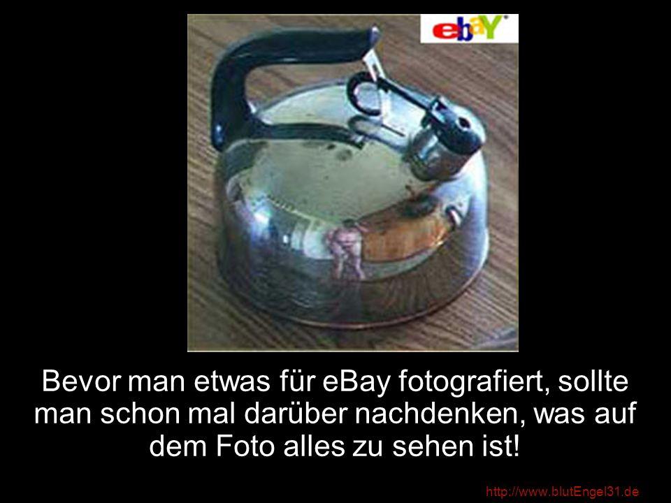 Bevor man etwas für eBay fotografiert, sollte man schon mal darüber nachdenken, was auf dem Foto alles zu sehen ist!