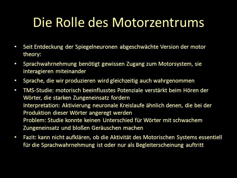 Die Rolle des Motorzentrums