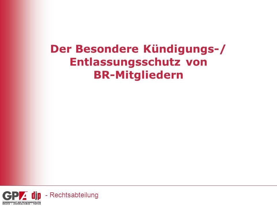 Der Besondere Kündigungs-/ Entlassungsschutz von BR-Mitgliedern