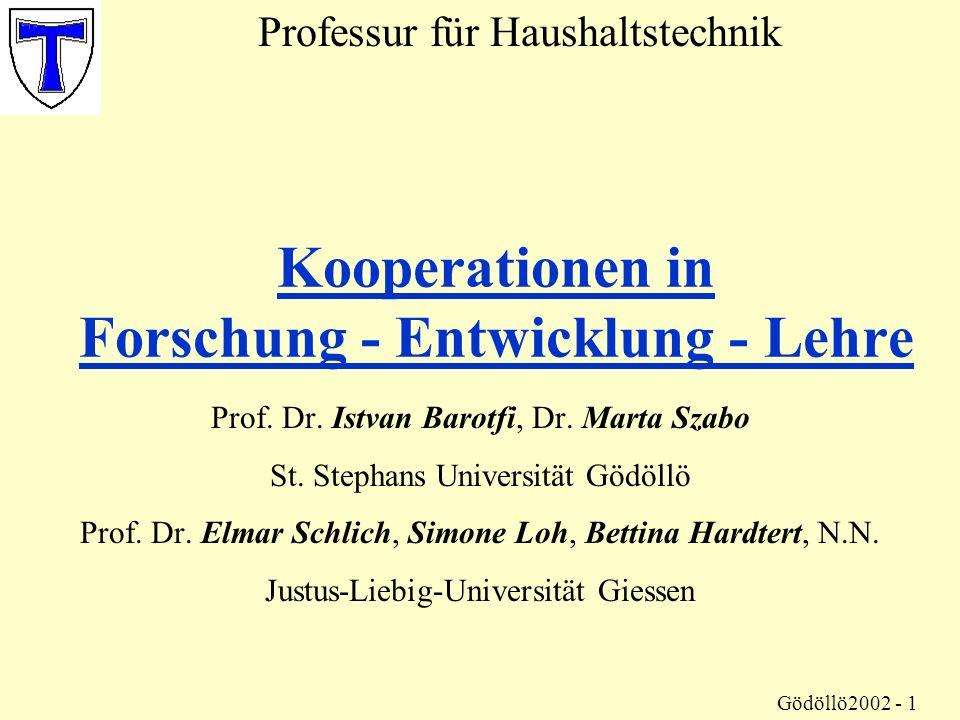 Kooperationen in Forschung - Entwicklung - Lehre