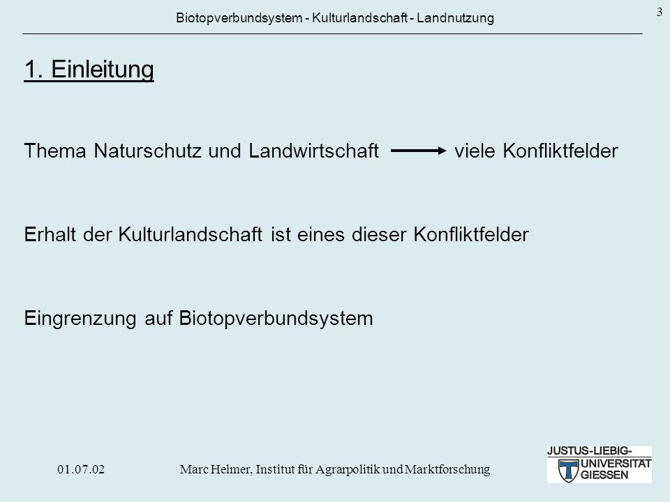 Der Gedanke des Biotopverbundsystems existiert schon lange, aber mit der Neuregelung des BNatSchG vom 04.04.2002 erstmals gesetzlich verankert.