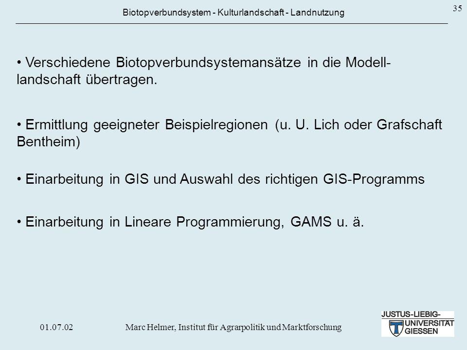 Einarbeitung in GIS und Auswahl des richtigen GIS-Programms