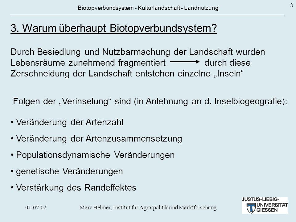 3. Warum überhaupt Biotopverbundsystem