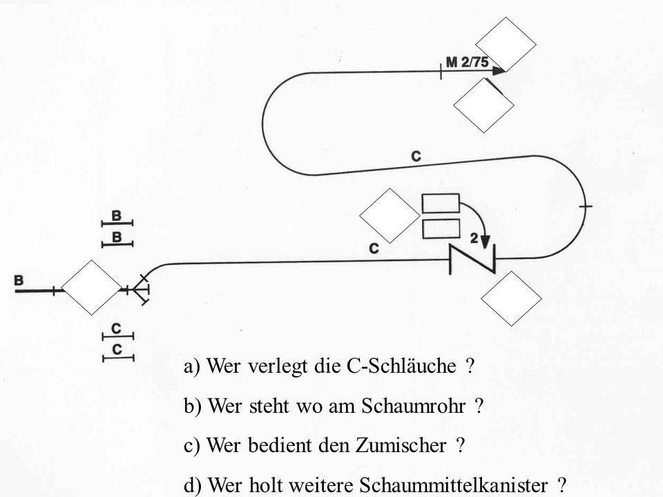 a) Wer verlegt die C-Schläuche