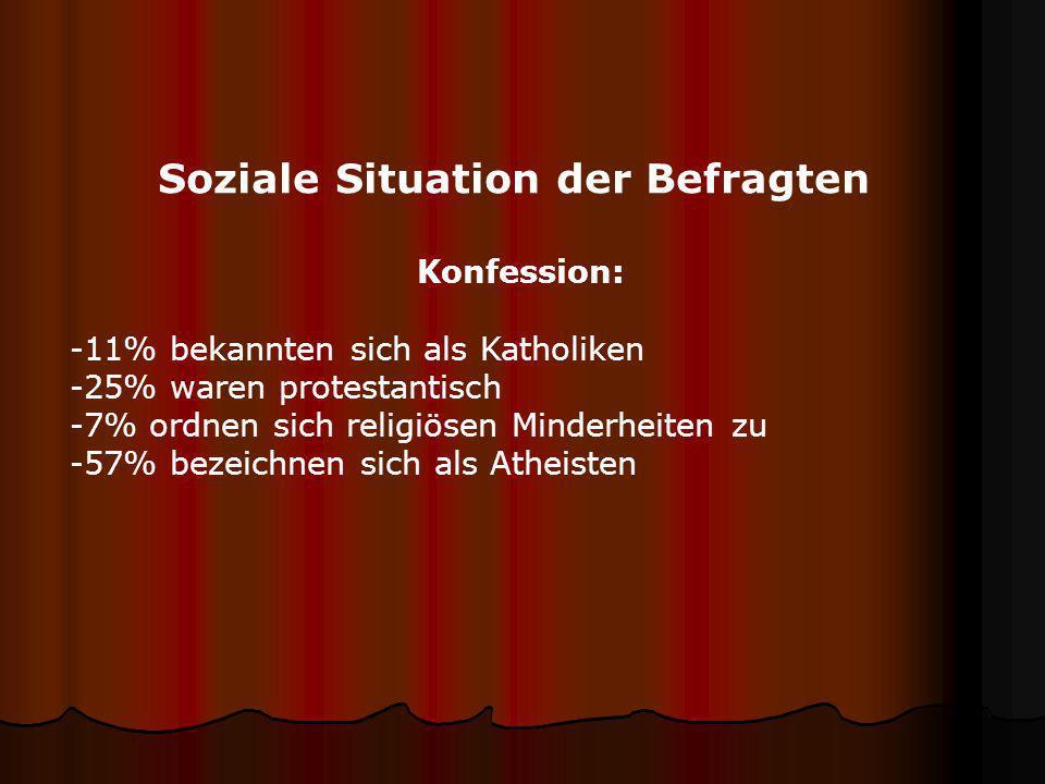 Soziale Situation der Befragten