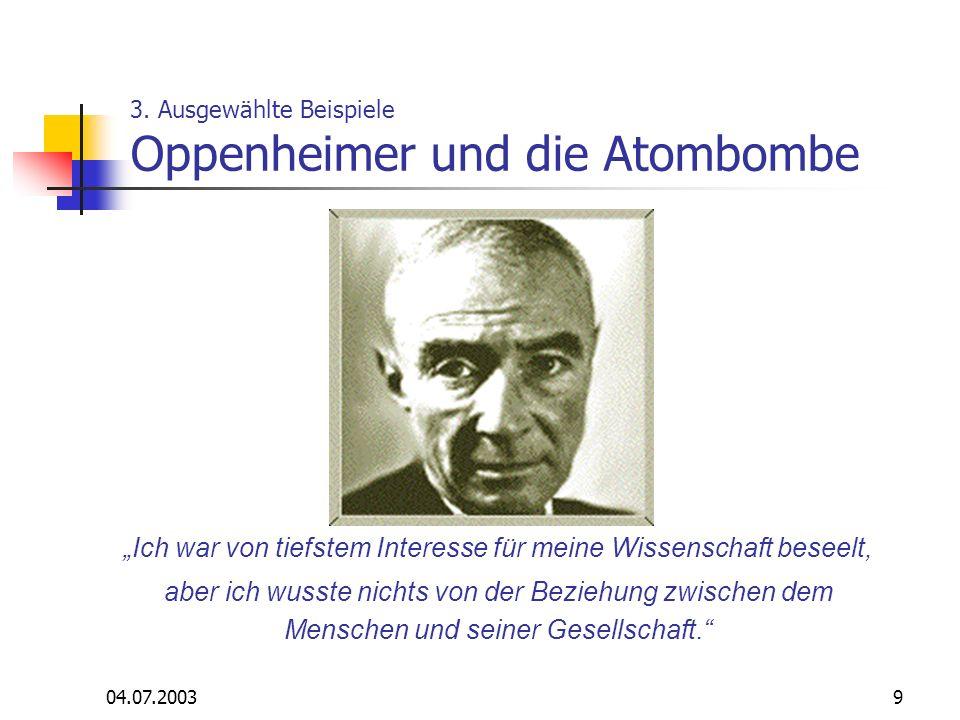 3. Ausgewählte Beispiele Oppenheimer und die Atombombe