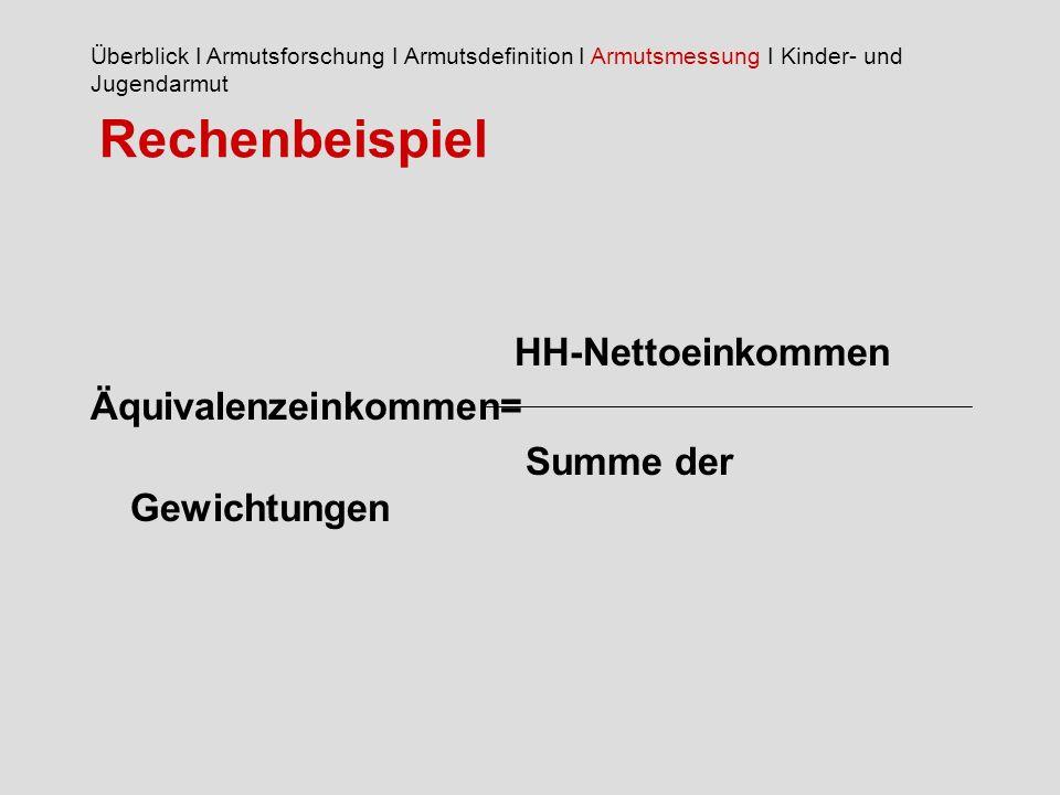 Rechenbeispiel HH-Nettoeinkommen Äquivalenzeinkommen=