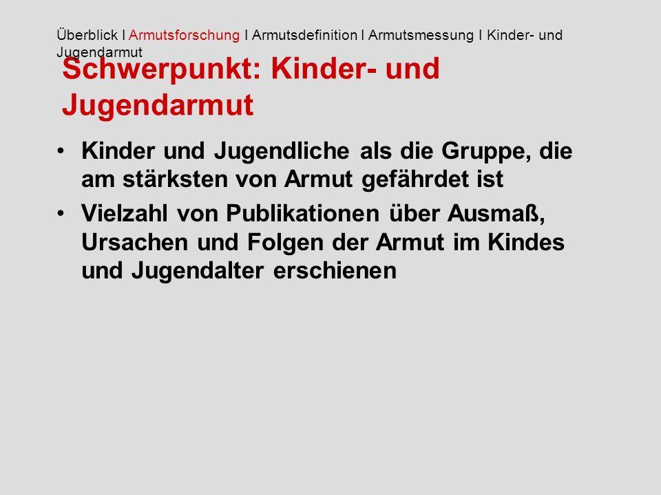 Schwerpunkt: Kinder- und Jugendarmut