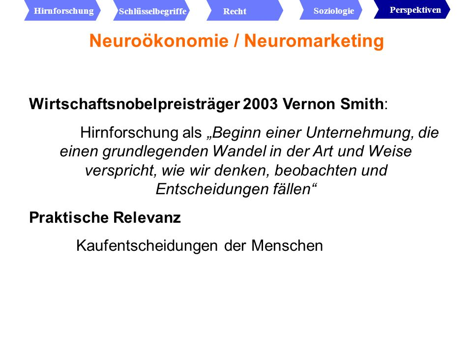 Neuroökonomie / Neuromarketing