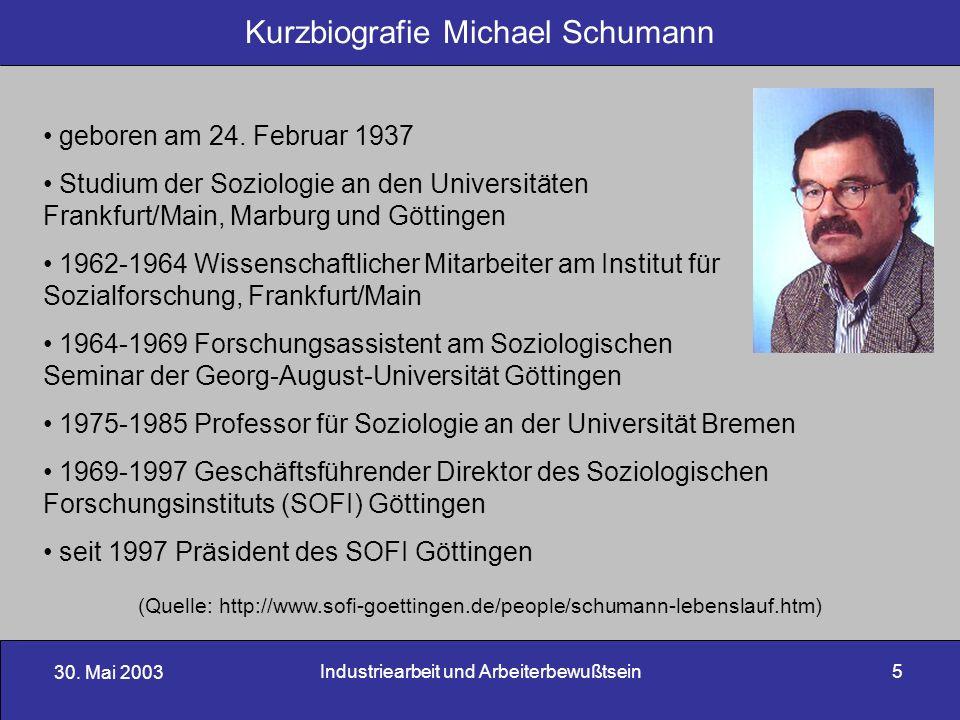 Kurzbiografie Michael Schumann
