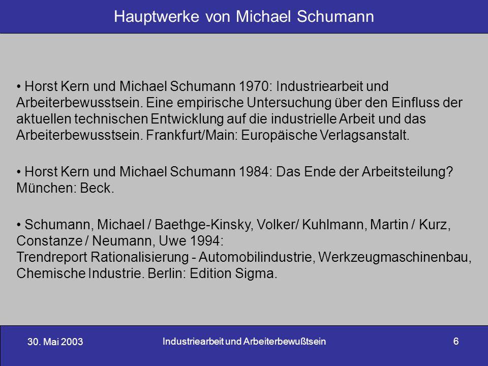 Hauptwerke von Michael Schumann