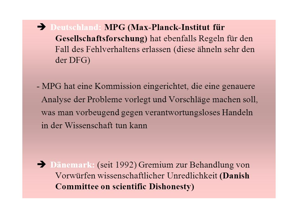 è Deutschland: MPG (Max-Planck-Institut für