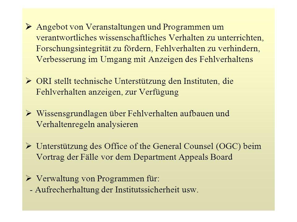 Ø Verwaltung von Programmen für: