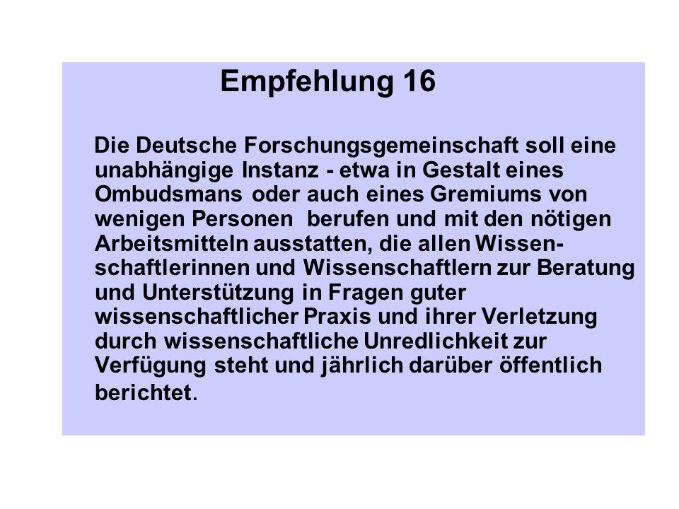 Empfehlung 16