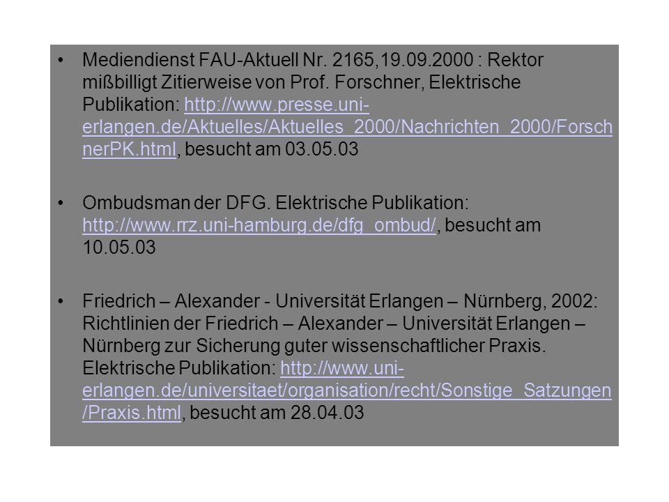 Mediendienst FAU-Aktuell Nr. 2165,19. 09