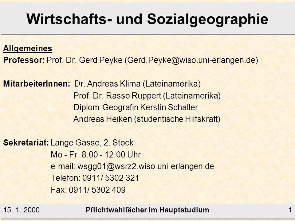 Wirtschafts- und Sozialgeographie