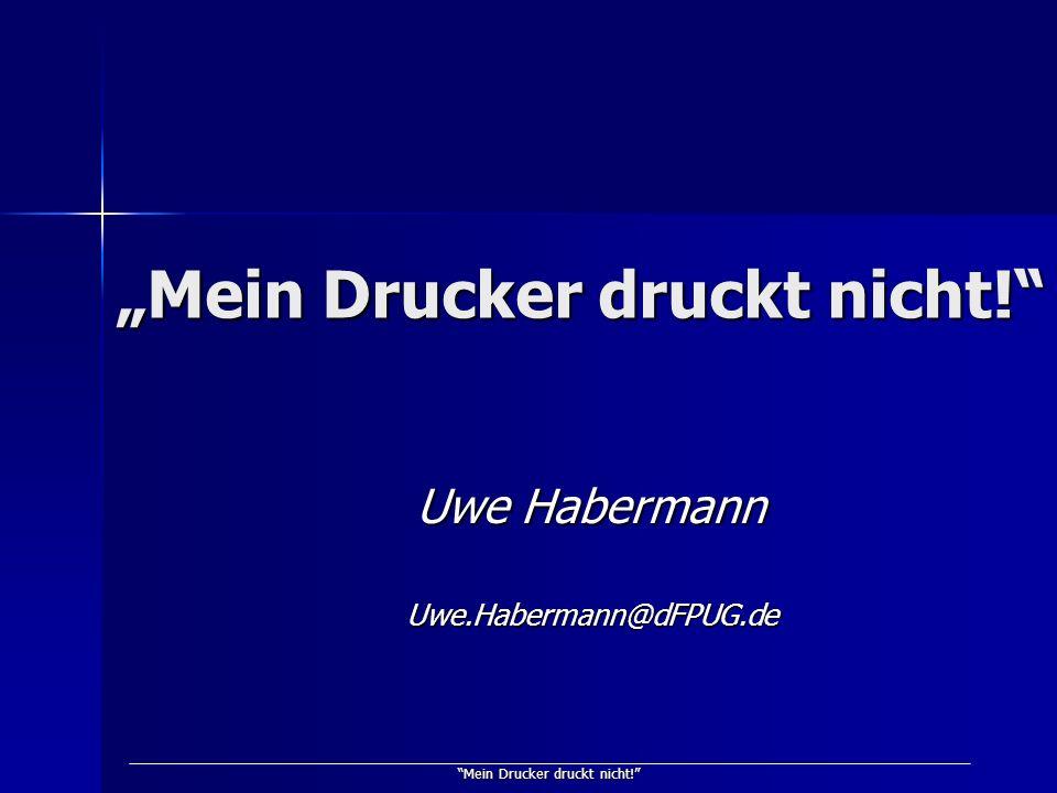 """""""Mein Drucker druckt nicht!"""