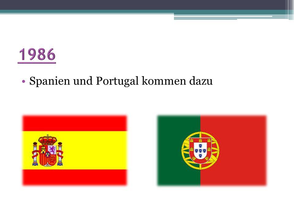 1986 Spanien und Portugal kommen dazu