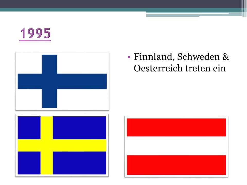 1995 Finnland, Schweden & Oesterreich treten ein