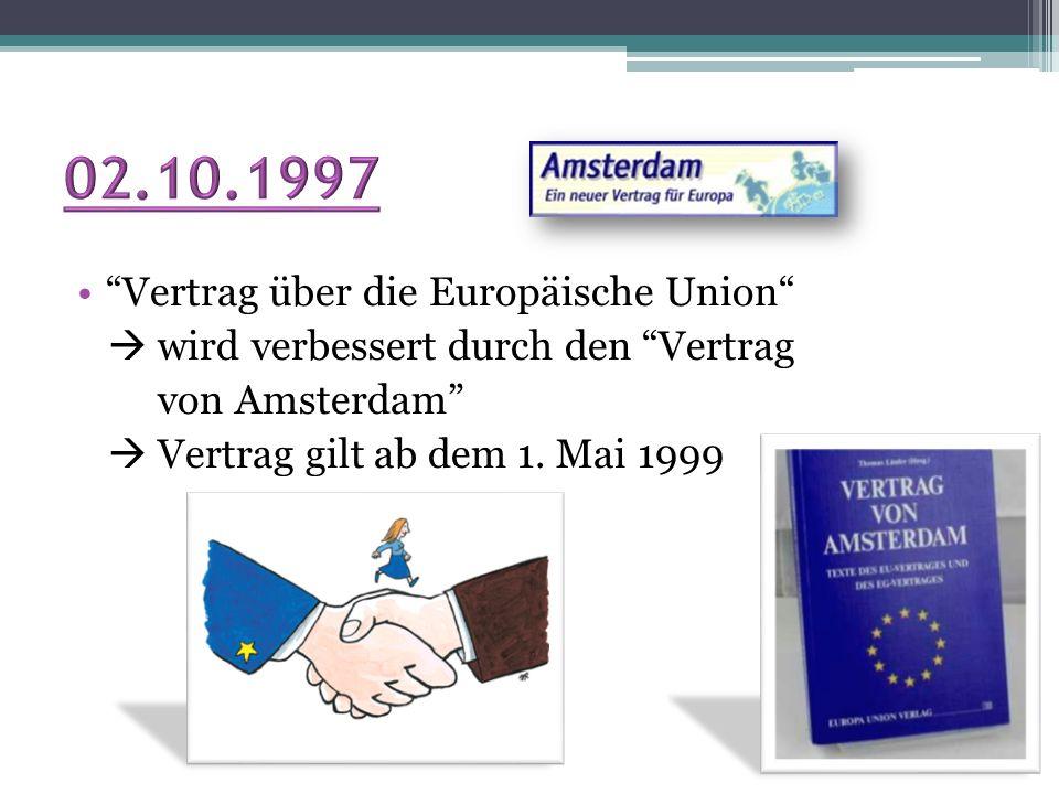 02.10.1997 Vertrag über die Europäische Union