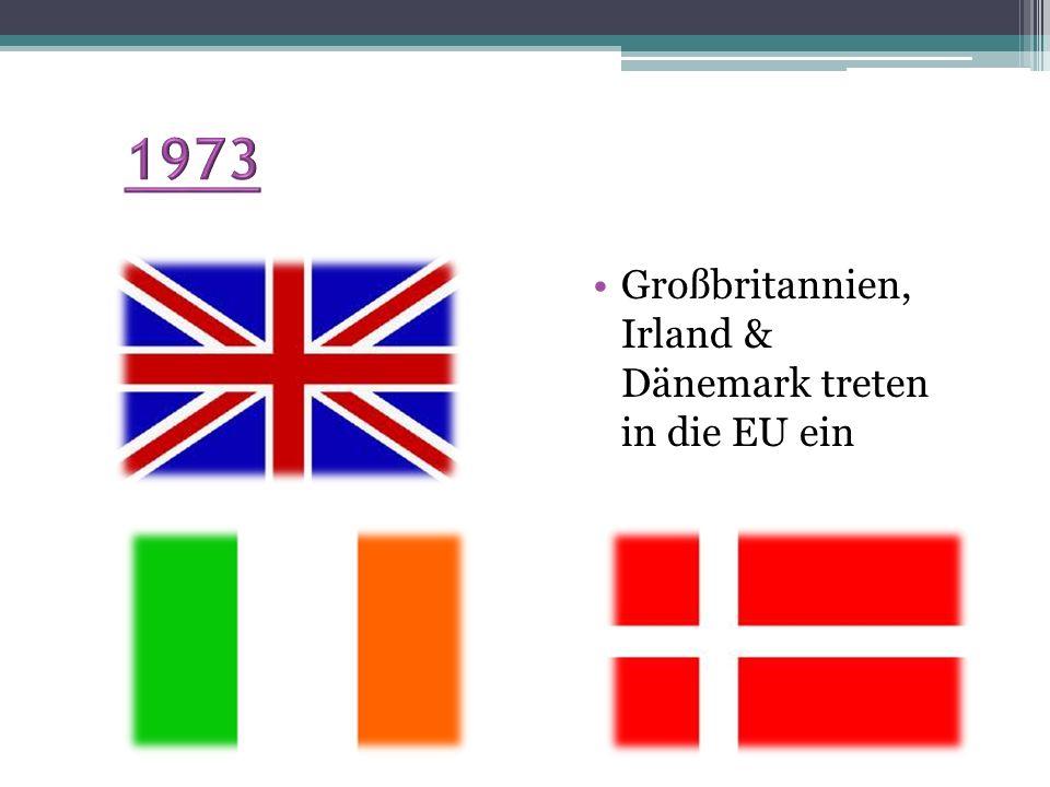 1973 Großbritannien, Irland & Dänemark treten in die EU ein