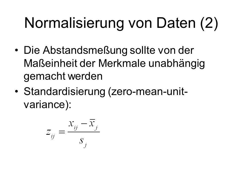 Normalisierung von Daten (2)