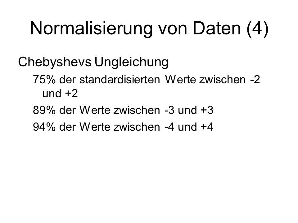 Normalisierung von Daten (4)