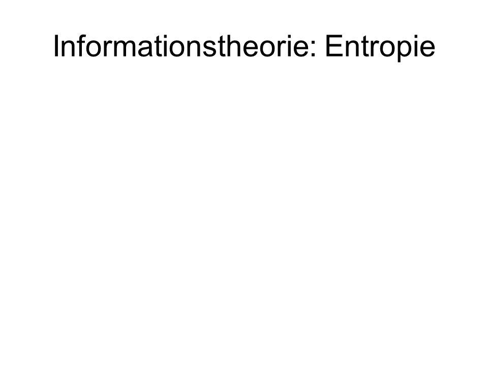Informationstheorie: Entropie