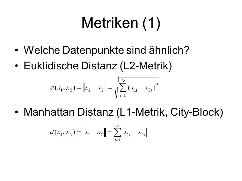 Metriken (1) Welche Datenpunkte sind ähnlich